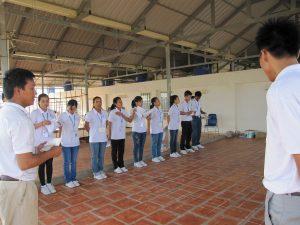 カンボジア実習生点呼8